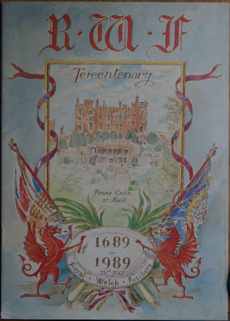 The Programme for the Regimental's 300 year Tercentenary event.