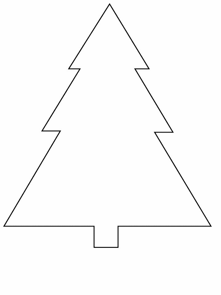 tree simple shapes coloring pages coloring book - Triangle Instrument Coloring Page