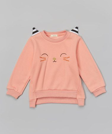 Another great find on #zulily! Pink Cat Sweatshirt - Infant, Toddler & Girls by Leighton Alexander #zulilyfinds