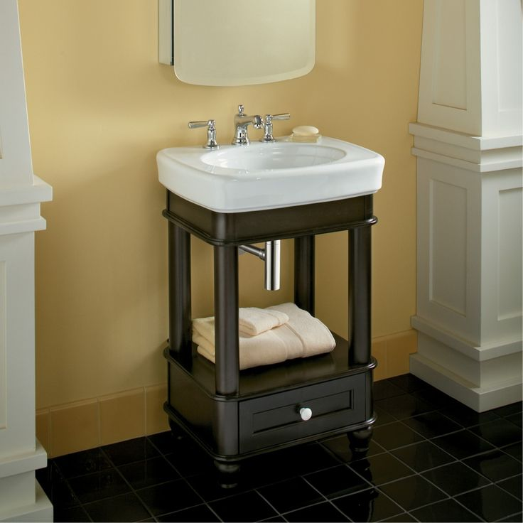 Small Vanity L Kohler Bancroft Bathroom Vanity   Black Forest