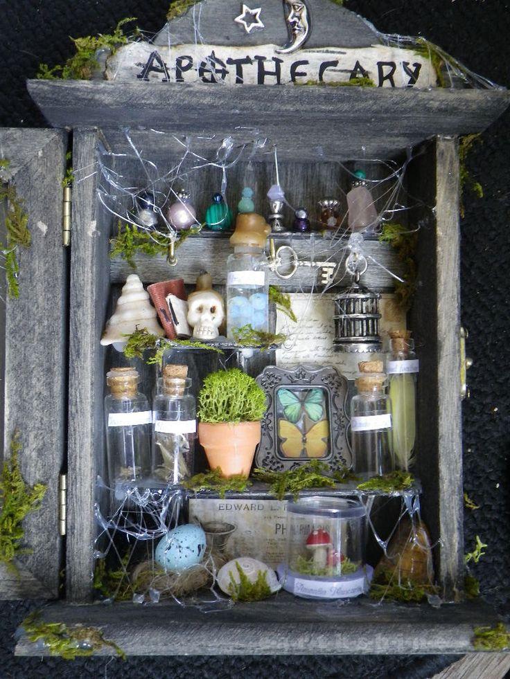 FREE SHIP Halloween Fairy Apothecary Diorama Shadowbox. $100.00, via Etsy.