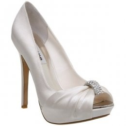 My beautiful wedding day shoes, mine are in Silver :0) Dune Viva Shoes