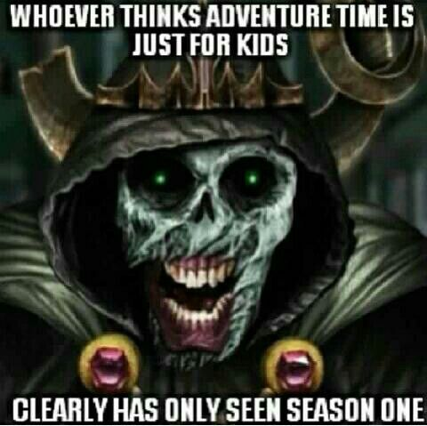 For real. I just finished season 2 (THEY FINALLY PUT IT ON NETFLIX!!!) & the Lich was as creepy as all get out.
