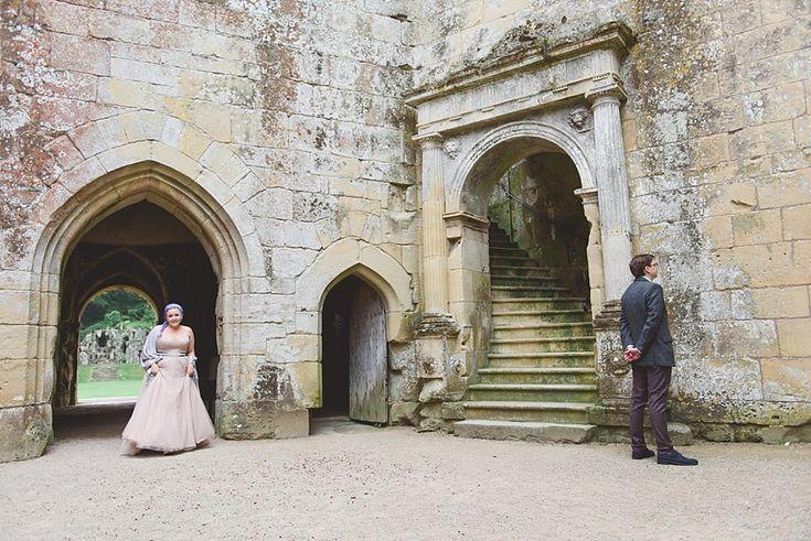 First Look| Old Wardour Castle| Alternative Castle Wedding in Wiltshire | Lisa Dawn Wedding Photography