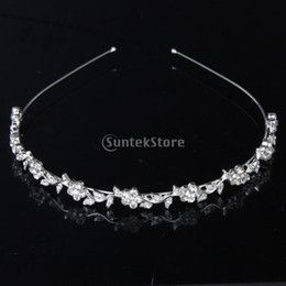 Fashion Jewelry Hair Jewelry Crystal Flower and Leaves Headband for Bridal Bridesmaid Wedding Tiara online