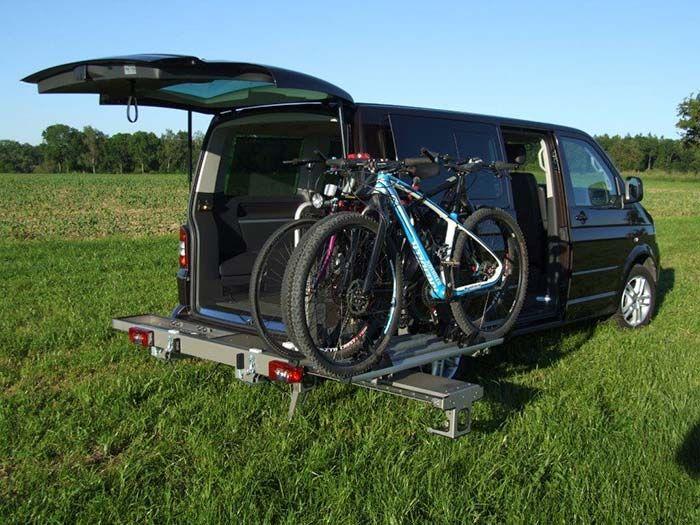 Highend Fahrradtrager Fur Campingbusse Die Turen Sind Offen