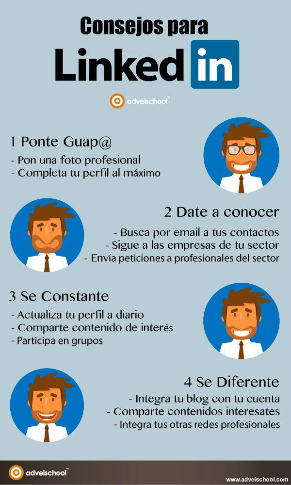 Consejos para Linkedin #infografia Repiined http://rmichaeldavies.com/