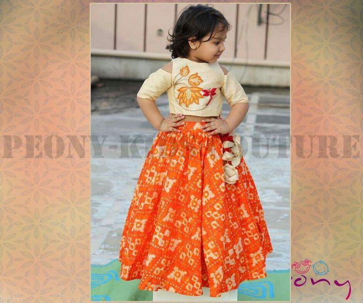 fea10bfe Designer top and lahenga WishCraft.in | Ethnic for cute little girl.. |  Skirts for kids, Kids lehenga, Kids frocks