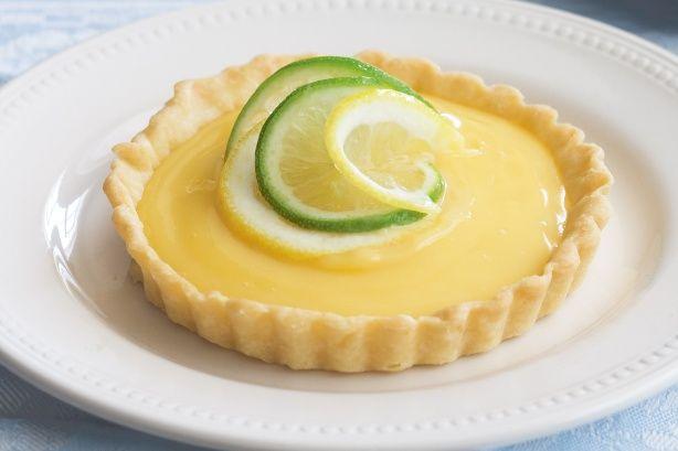 Lime curd tart