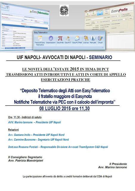 Studio Legale Buonomo (Napoli / Caserta): Evento formativo Napoli, 08/07/15: Le novita' dell...