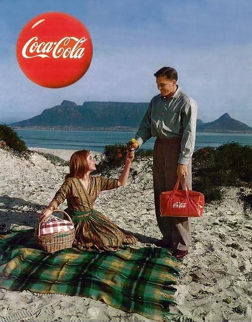 Coca Cola advertisement, Cape Town, 1959