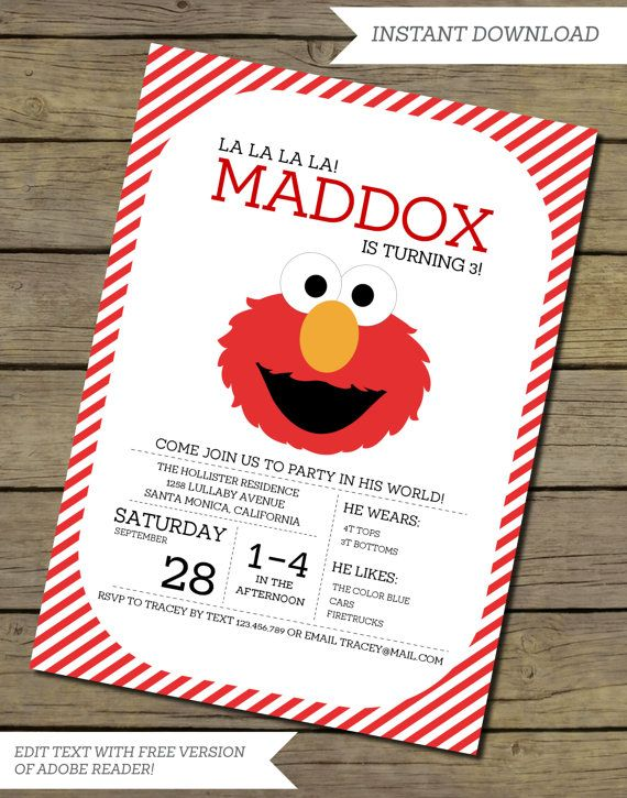 66 best images about declan's turning 3 on pinterest | themed, Birthday invitations