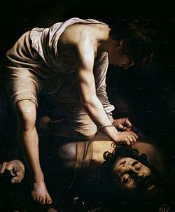 Caravaggio - David and Goliath, 1599.