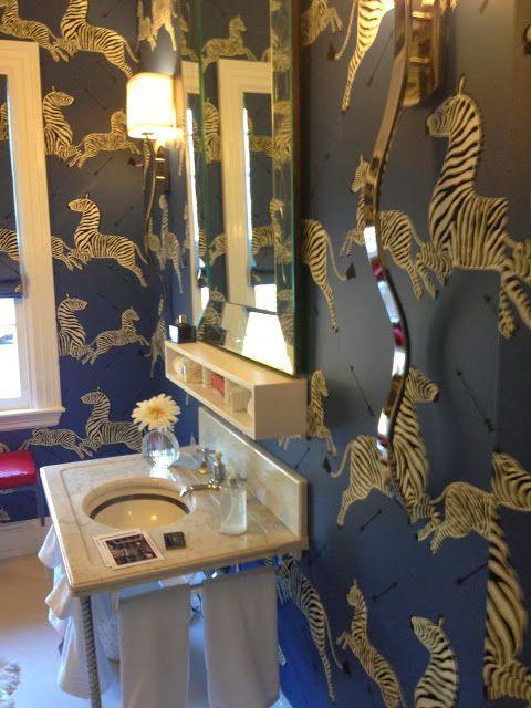 41 best powder room images on pinterest zebra wallpaper