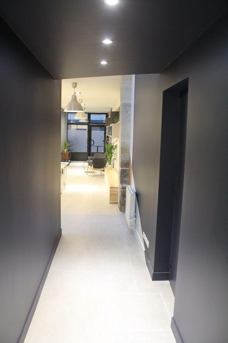 le.nid AI - projet 75_11è - aménagement d'un espace de travail en coworking -  sas d'accès à la salle de réunion et aux sanitaires