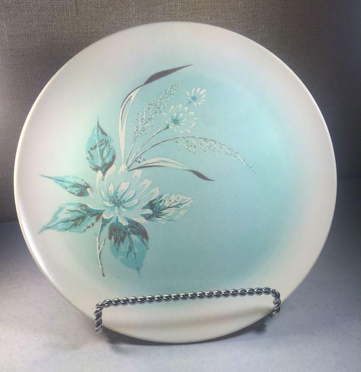 6 Oneida Melmac Melamine Dinner Plates Midcentury Turquoise Blue Vintage | eBay