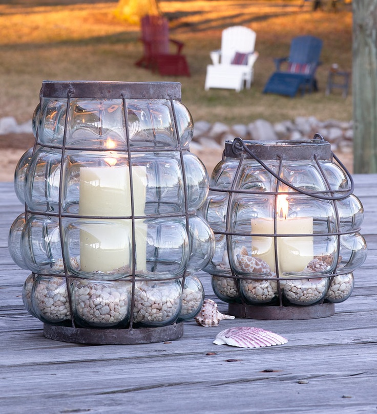 Recycled Bubble Glass Lanterns: Outdoor Living, Recycled Bubble, Lanterns Lights, Patio Lanterns, Outdoor Spaces, Bubble Lanterns, Outdoor Projects