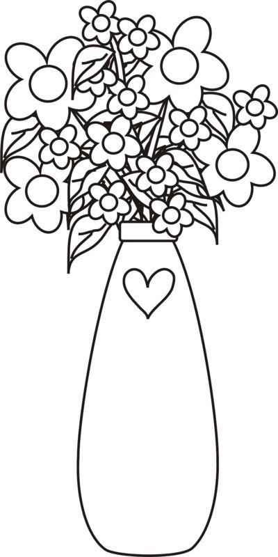 vase of flowers for beginning drawers