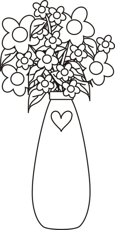 vases with flowers coloring pages - photo#37
