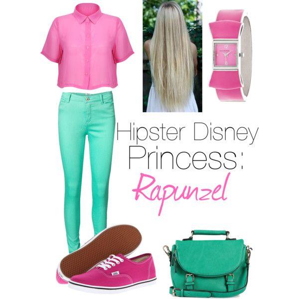 Hipster Disney princess: rapunzel