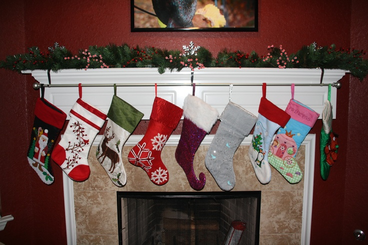 Christmas stocking holder for mantle where you can keep for Mantle holders