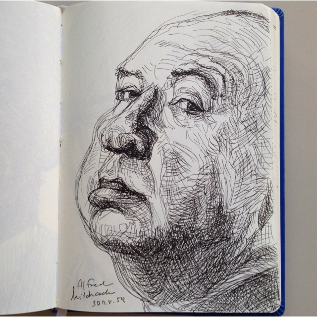 Drawing....Alfred Hitchcock