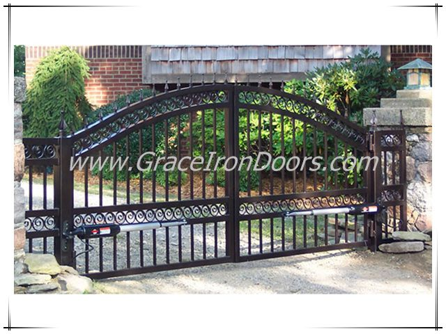 42 best images about wrought iron tudor gates on pinterest for Brick and wrought iron fence designs