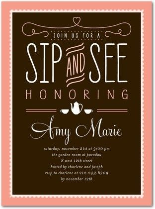 Best 25+ Sip and see invitations ideas on Pinterest Sip and see - business meet and greet invitation wording