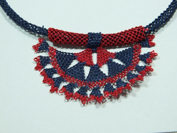 turkish oya necklace