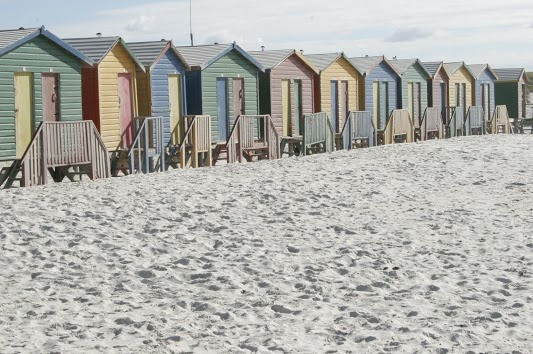 Colourful Muizenberg Beach Huts Cape Town Location.