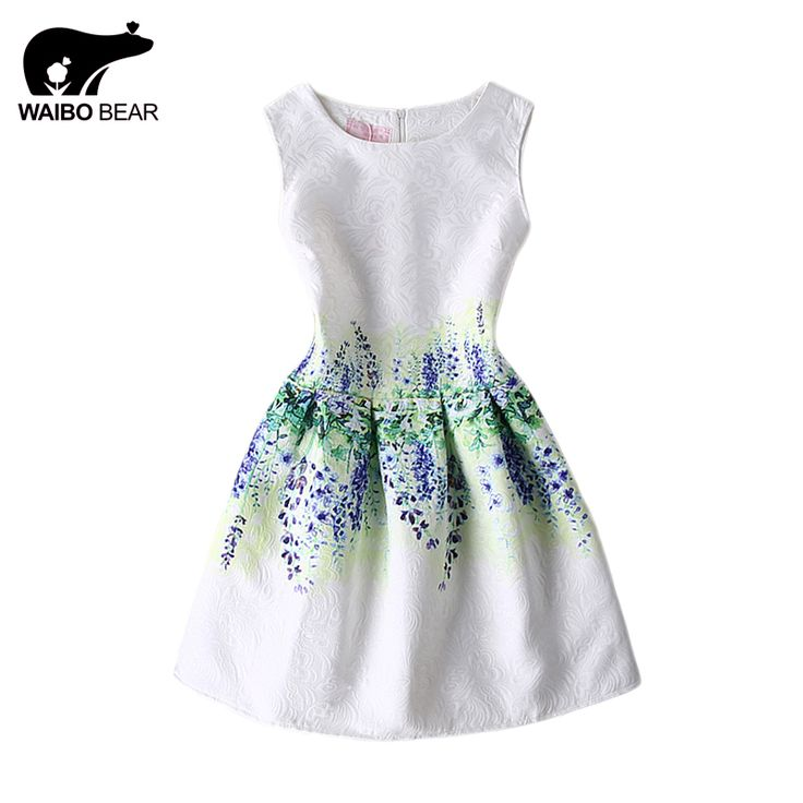 Fashion Women O-Neck A-Line Skater Print Dresses Sleeveless Evening Vintage A Line Sexy Casual Dress Plus Size Oh Yeah www.lady-fashion.... #shop #beauty #Woman's fashion #Products