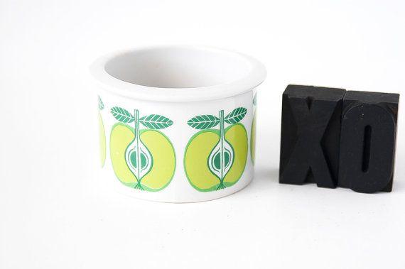 Arabia Finland Apple Ramekin / Collectible Arabia Finland / Ramekin-Jam Jar