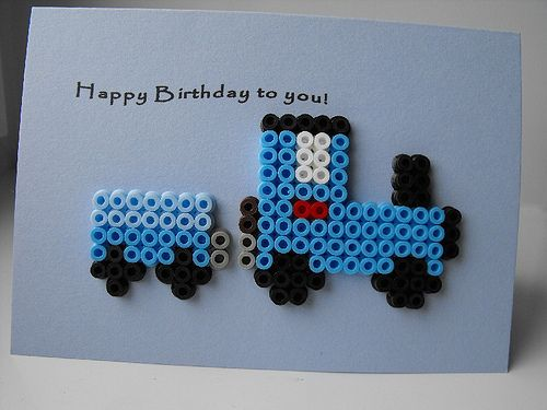 Birthday card - Train by Wepo Designs, via Flickr
