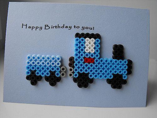 Birthday card - Train by Wepo Designs, via Flickr