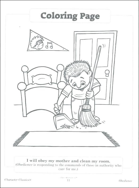 obedience coloring page obedience coloring page character