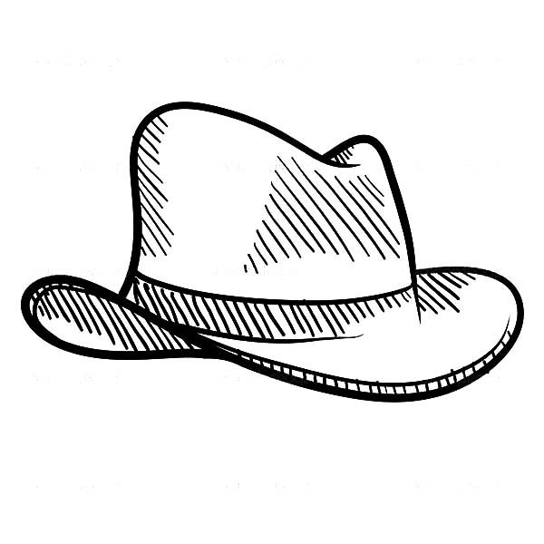 Cowboy Hat Sketch Of Cowboy Hat Coloring Pages Cowboy Hats Fancy Hats Coloring Pages