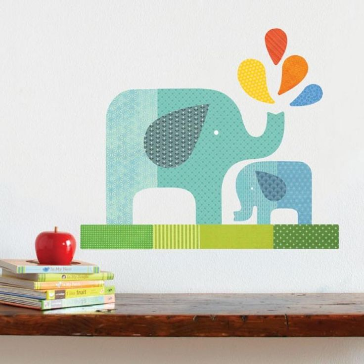 The 19 best petit collage kids decor images on pinterest babies blue elephant baby removable wall decal petit collage for sale by little shop of treasures gumiabroncs Choice Image