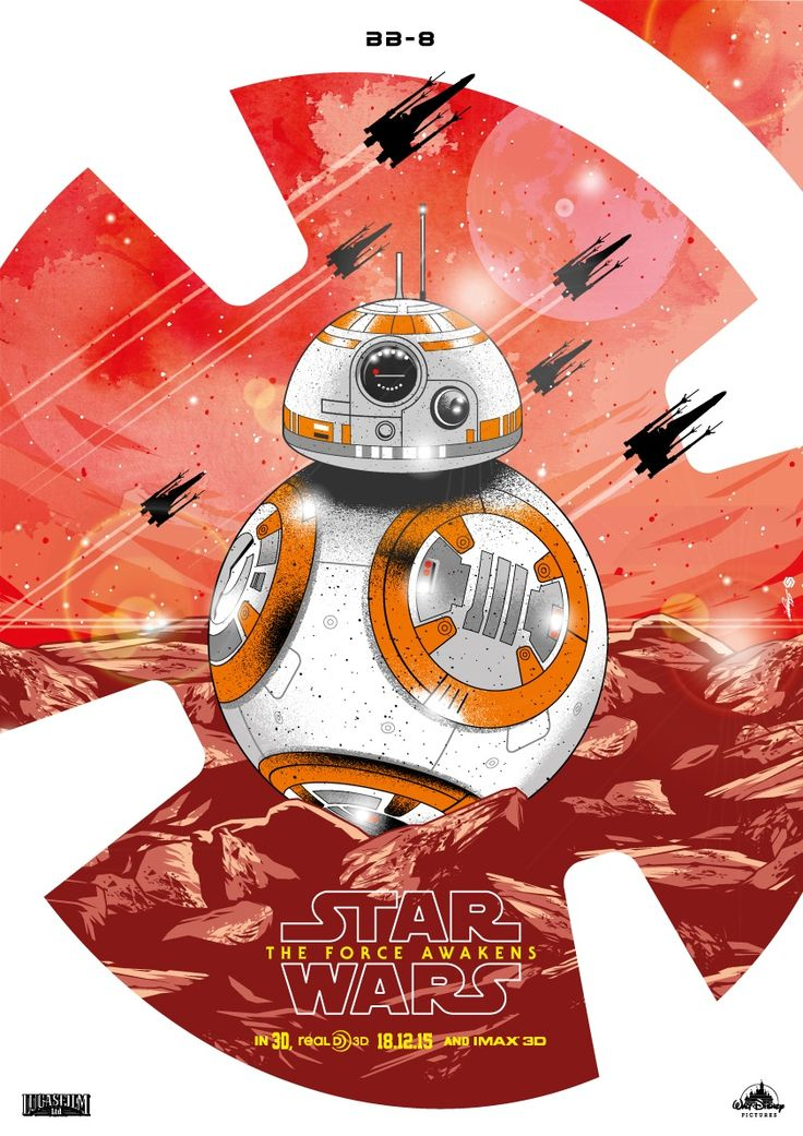 Star Wars The Force Awakens Awesome Poster Fan Art (BB-8) #starwars #fanart