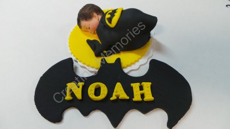 Baby Batman/Edible Cake Topper made of Vanilla Fondant and Gumpaste/BABY SHOWER/First Birthday/Christening/Baby Announcement Cake by anafeke on Etsy https://www.etsy.com/listing/254086575/baby-batmanedible-cake-topper-made-of