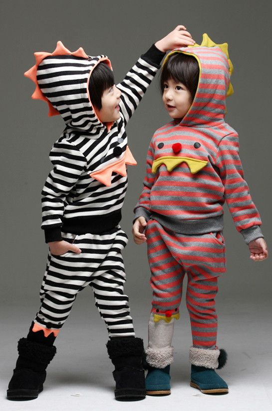 Munster Striped Fleece Set for boys and girls 2-7. Cool kids fashion, play ready style at Color Me WHIMSY.