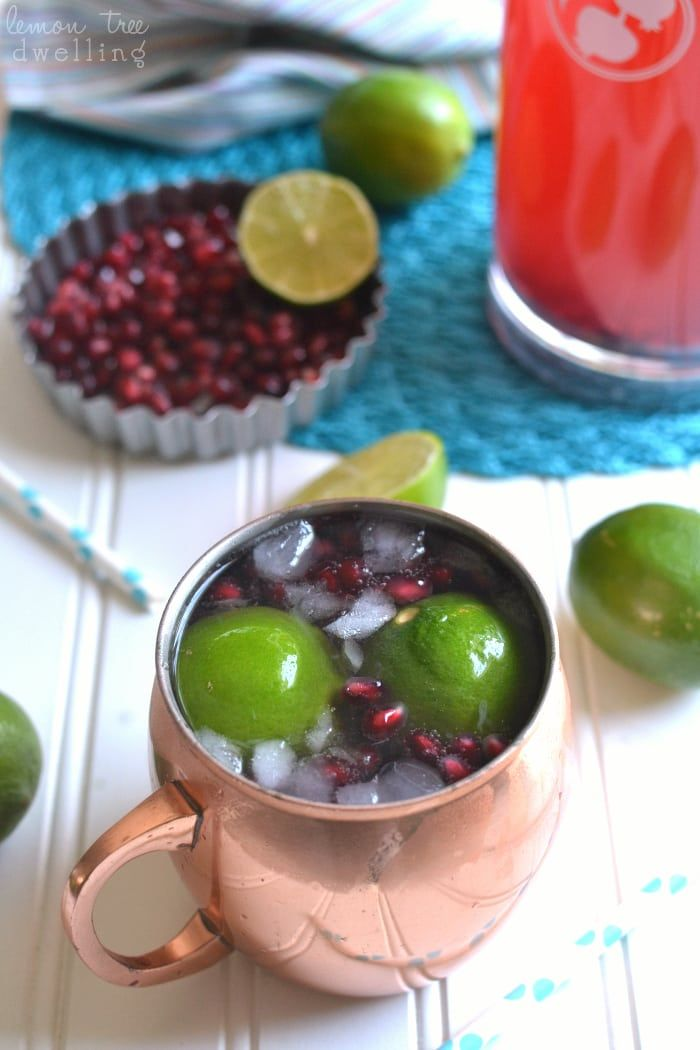 Pomegranate Moscow Mules