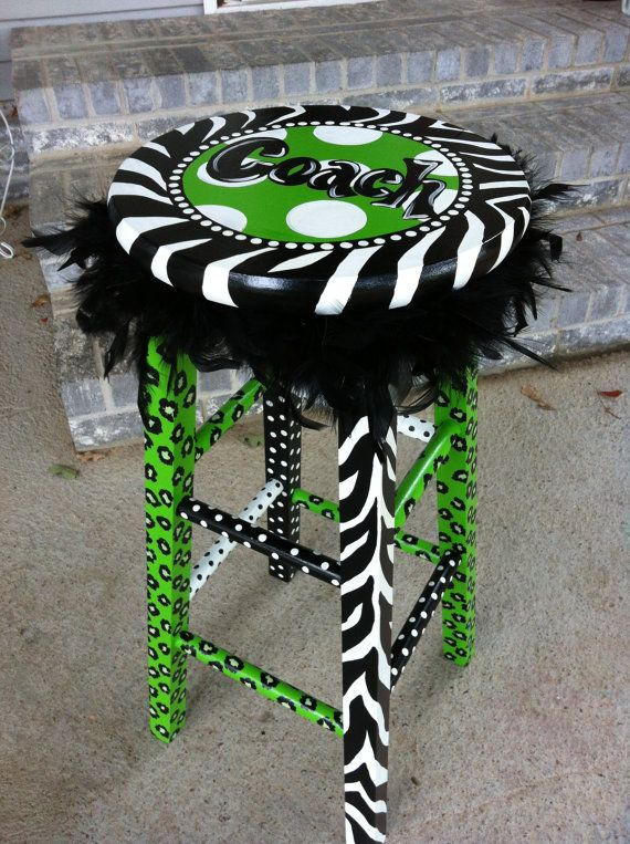 Personalized Funky Teacher Stool by LaurieColeDesigns on Etsy