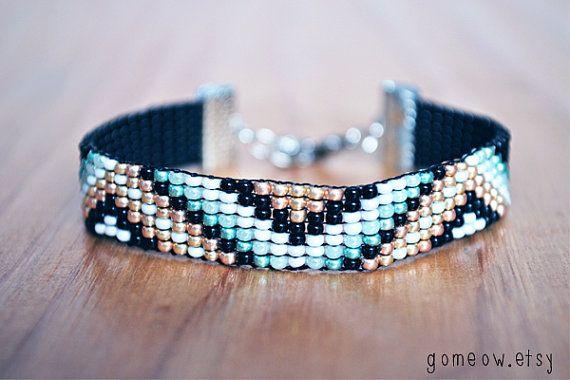 Aztec Beaded Loom Native American Bracelet // Tribal by Gomeow, $22.95