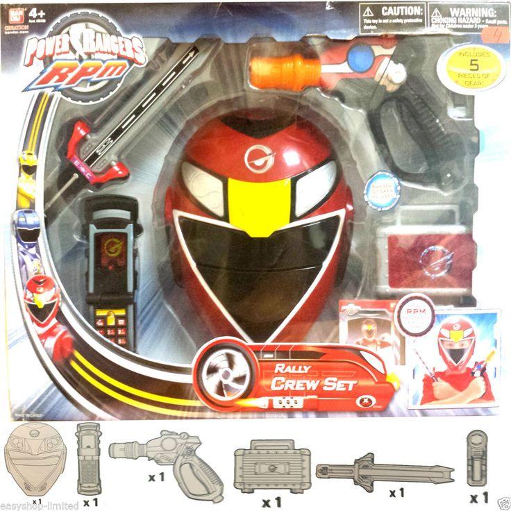 Power Rangers RPM Rally Crew Set Toy Playset Xmas Gift 5pcs Boys Child Gear New
