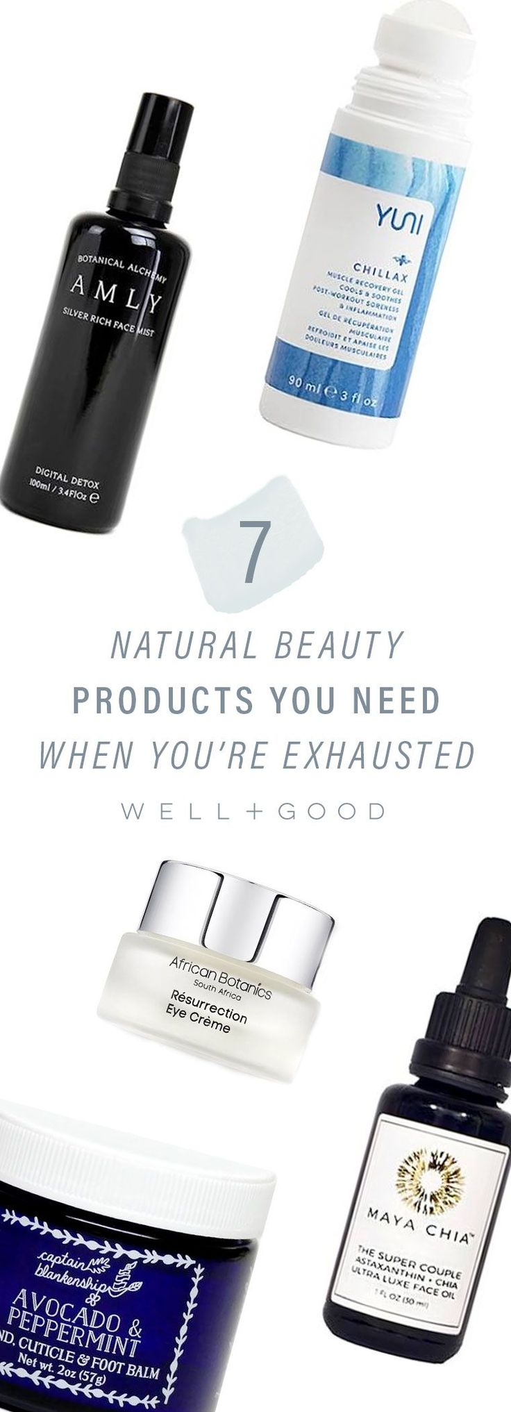 Natural beauty products for people who are constantly tired
