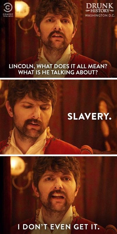 Drunk history.. Ok so this show is new to me, a bit strange at first but I really found it funny .. Maybe bc I had nothing else to do idk? But it's worth watching a few times! Try it out!