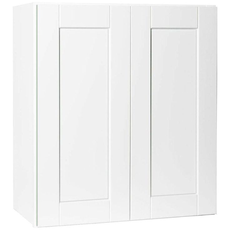 27x30x12 in. Shaker Wall Cabinet in Satin White