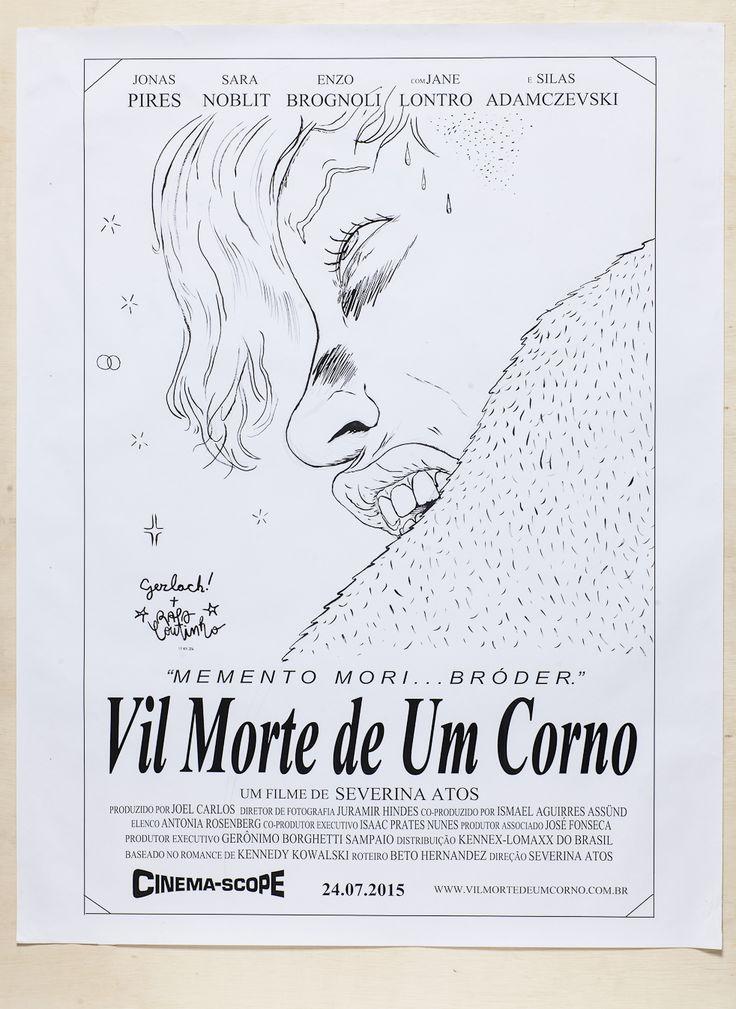 """Rafael Coutinho + Diego Gerlach - """"Vil Morte de Um Corno"""" Impressão em Offset + Caneta Nanquim (92 x 129 cm), Offset 90g"""