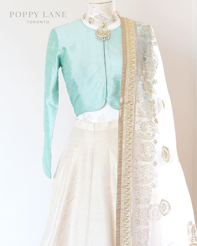 ** New blouse alert ** Mint raw silk blouses now up at poppylane.ca