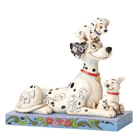 Figurine Pongo Penny et Rolly - 55 ans - Les 101 Dalmatiens